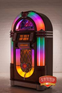 1015 Slimline Jukebox - 8750 - Get the big looks and big sound of the nostaligia 1015 in a smaller package If y